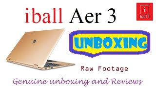 iBall Aer3 13 3 inch display Laptop Unboxing Part 1