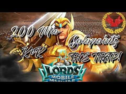 Garrison Trap #61 KvK Worldrank  200Mio Solopoints ! - 4 Way KvK April 19 - Lords Mobile