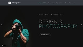 Photography WordPress Theme - Photographer Site Builder