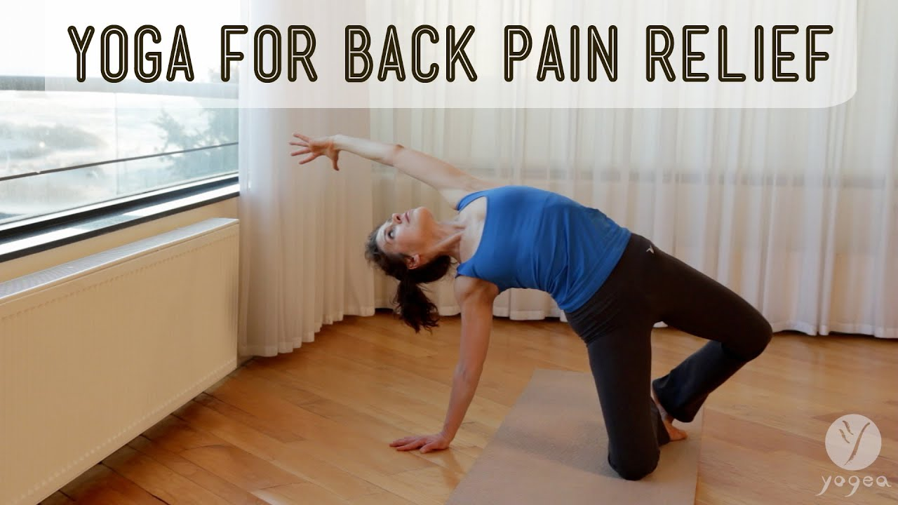 "Yoga for back pain relief ""Decompress: Eliminate excess ..."