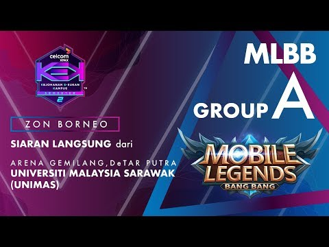 """MLBB CELCOM #XPAXKEK SEM 2 Group A -  Blackjack Gaming [UMS] vs Mad Havoc [UNIMAS]"""