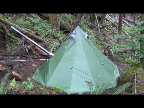 Another UltraLight Backpacking Hot Tent and Titanium Wood Stove
