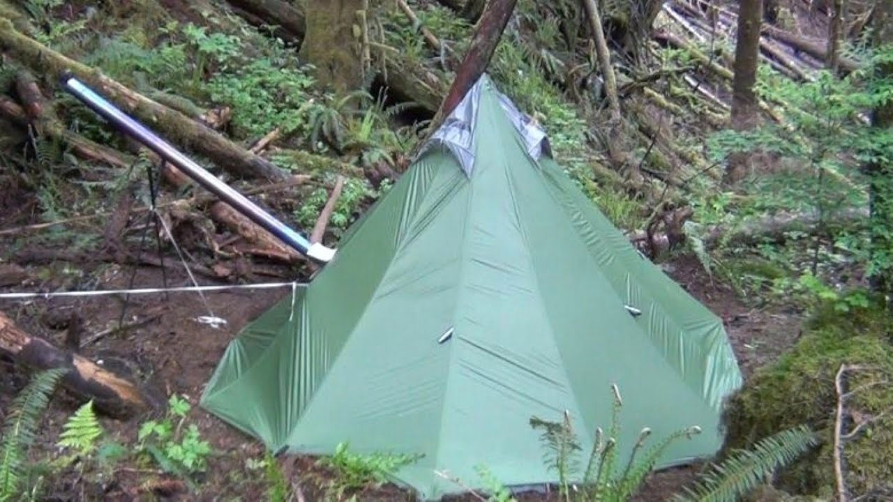 Another UltraLight Backpacking Hot Tent and Titanium Wood Stove - YouTube & Another UltraLight Backpacking Hot Tent and Titanium Wood Stove ...