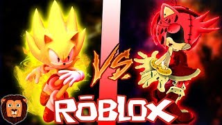 SUPER SONIC VS AMY. EXE IN ROBLOX ? EPIC BATTLE OF CHARACTERS IN ROBLOX