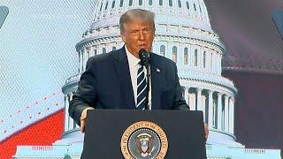 video: Donald Trump says Democrats had the 'gloomiest' convention in history after Joe Biden's big speech