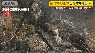 """アマゾン収束見えず """"大規模火災の原因?""""に遭遇(19/09/03)"""