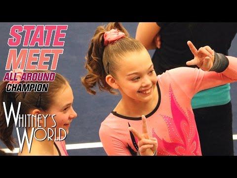 Whitney Bjerken | Level 9 State Gymnastics Meet | All Around Champion