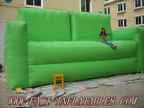 Inflatables-WARNING WHEN YOU ON THE GIANT INFLATABLE SOFA - YouTube