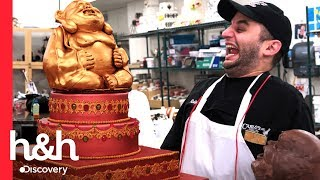 Ralph faz um buda gigante de chocolate! | Cake Boss | Discovery H&H Brasil