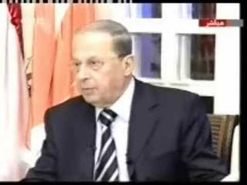 Aoun explaining why his son-in-law Bassil is his right arm