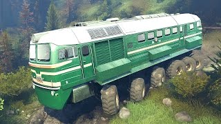 SpinTires 25.12.15 | Diesel-M62 Locomotive