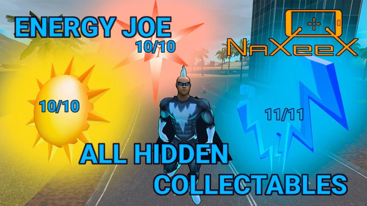 Energy Joe | Naxeex | ALL Hidden Collectables