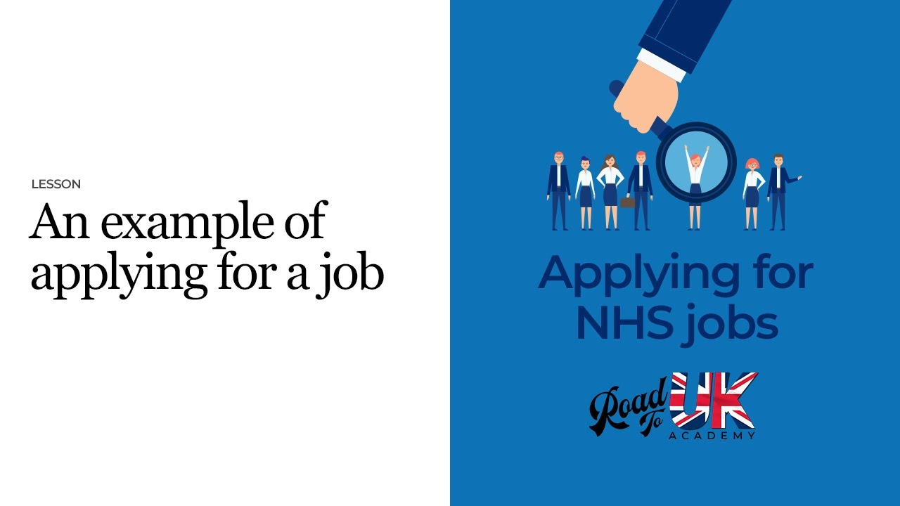 An Example of applying for a job   Step by step NHS job application    Supporting information