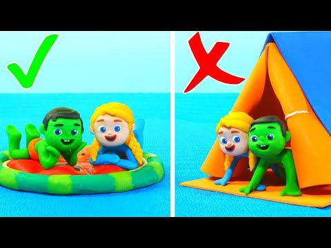 Kids Having Fun With A Floating Tent ❤ Cartoons For Kids