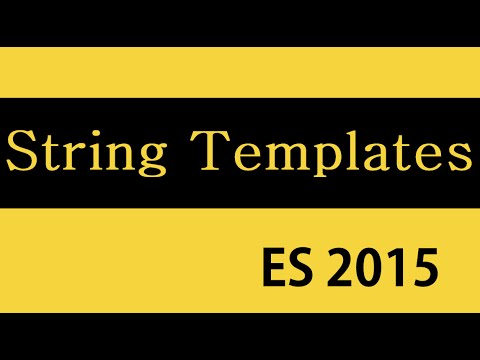 ES6 and Typescript Tutorial - 19 - String Templates - YouTube