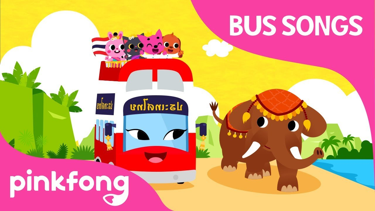 Thailand Tour Bus | Thailand Trip | Car Songs | Pinkfong Songs for Children