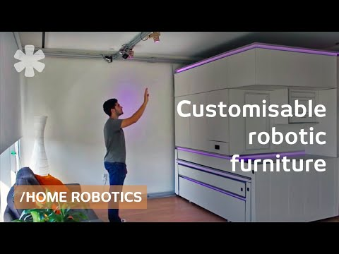 Furniture meets robotics: superpower to show/hide what's used