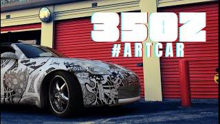 Plastidipped 350Z Sharpie Art Car #ARTCAR