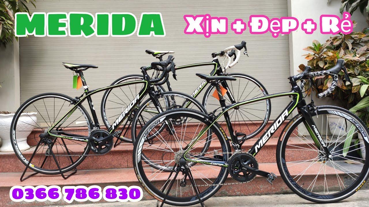 Xe đua MERIDA – Taiwan   Khung cacbon + Đồ 105 Japan + SRAM USA   Xịn – Đẹp – Rẻ