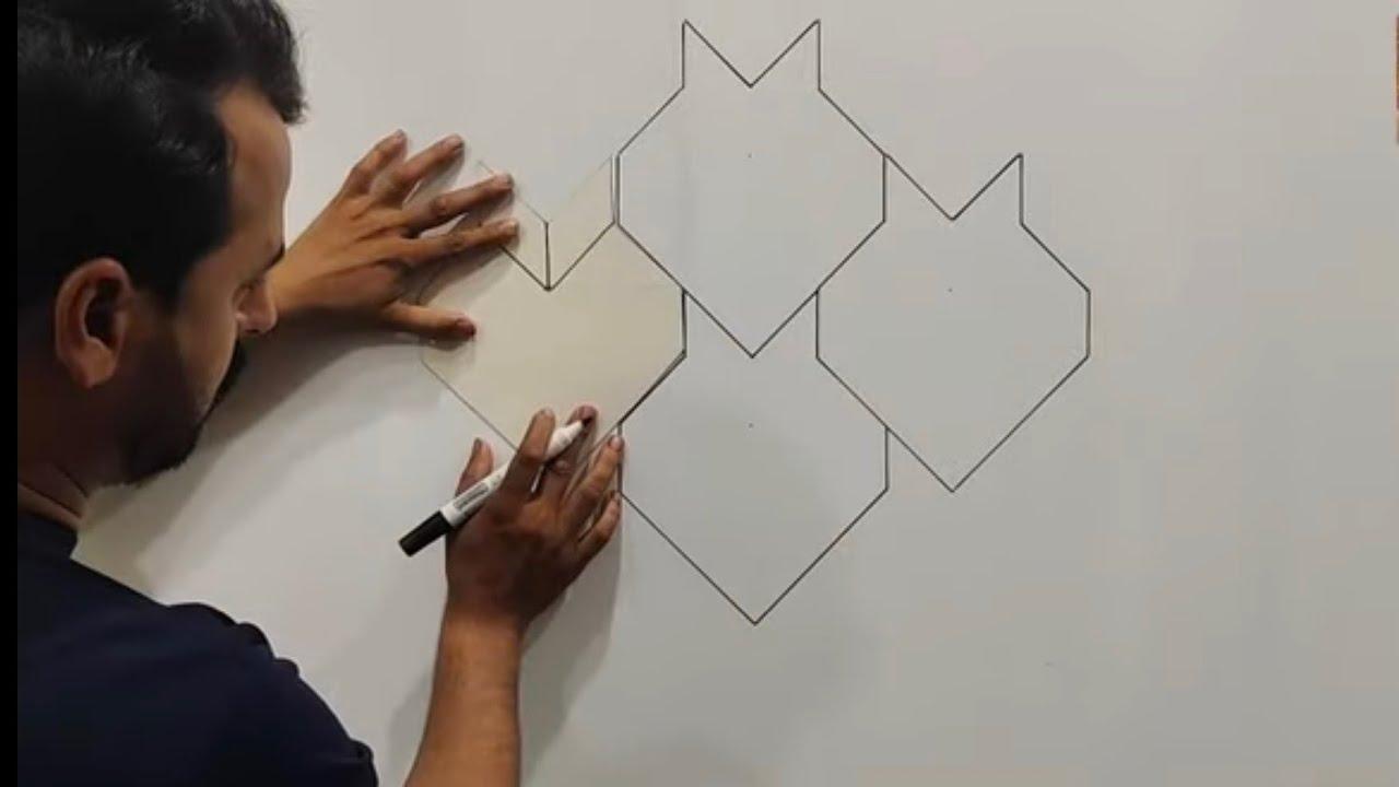 New Latest 3D wall design ideas | wall paint design | Bedroom wall paint design | interior design