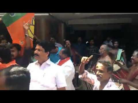 KERALA BJP celebration Tripura victory
