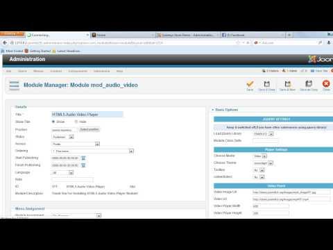 HTML5 Audio Video Player Joomla Module