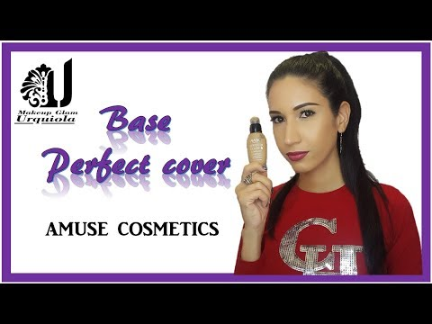 Como se usa la Base  Perfect Cover de Amuse cosmetics / Makeup Glam Urquiola