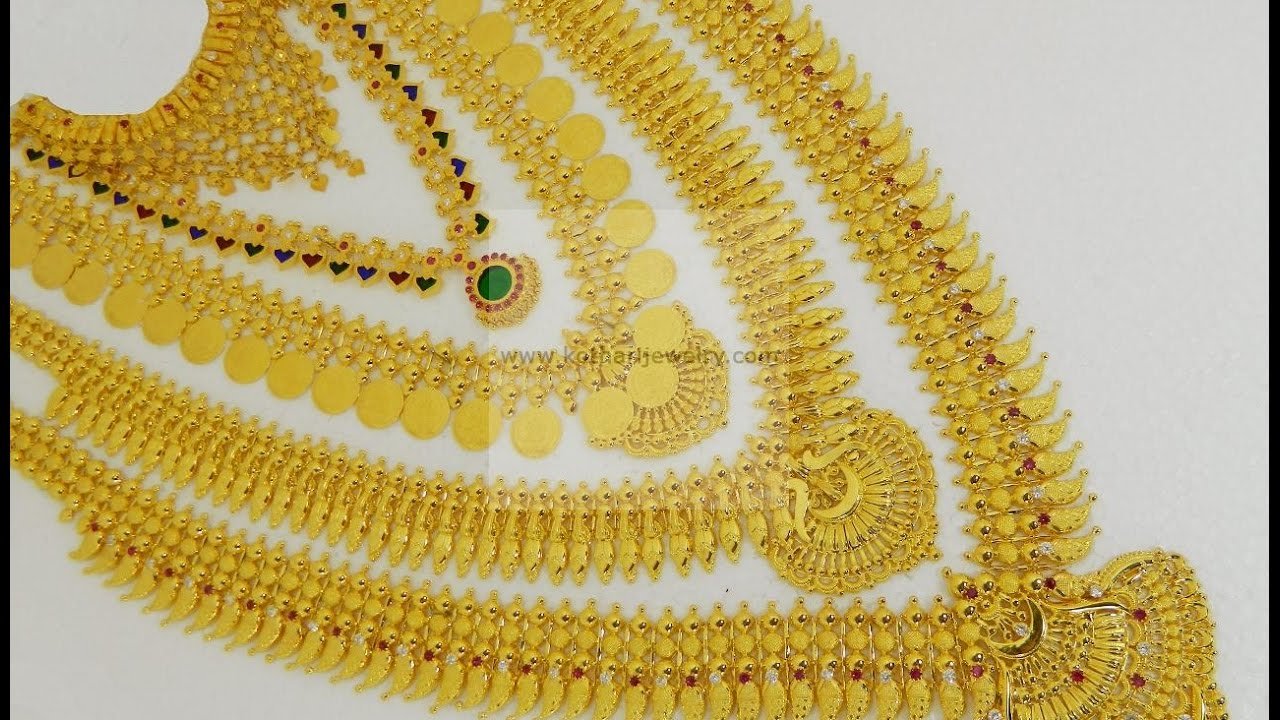 Latest Kerala Style Necklace Set with Weight and Price!!! - YouTube