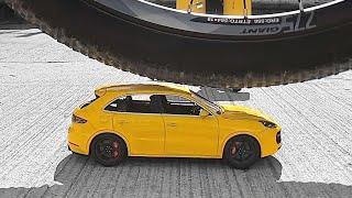 Раздавил Porsche Cayenne на ВЕЛОСИПЕДЕ, из ПЛАСТИЛИНА, уничтожение