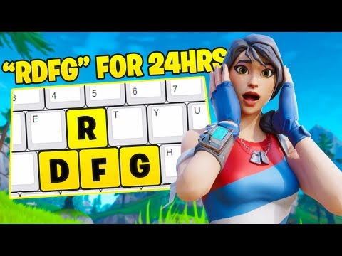 I Used RDFG Over WASD For 24 Hours In Fortnite... (it Worked)