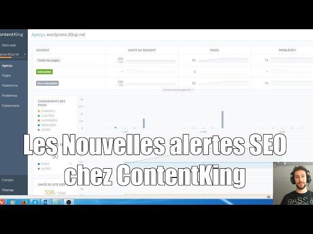 Comment recevoir une alerte en cas de problèmes On-site SEO avec ContentKing