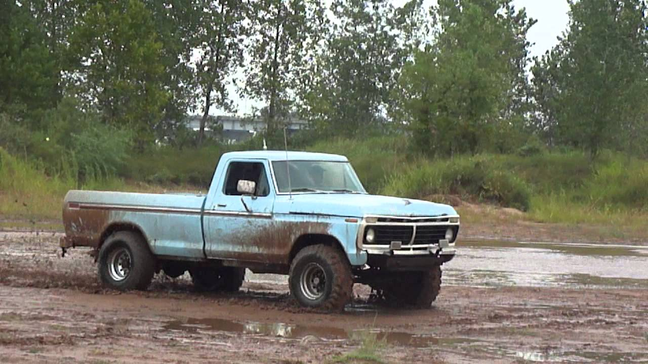 1975 F250 HighBoy 390 FE Bigblock Mudding Part 2 :D With Rebel Yell!! - YouTube