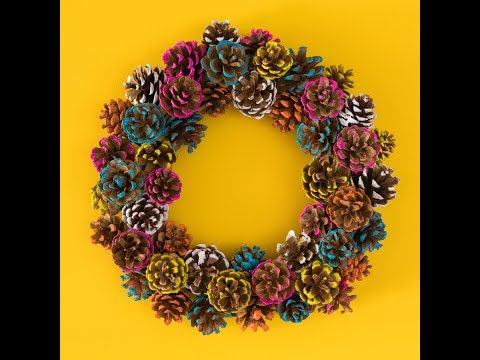 Fall DIY Pinecone Wreath