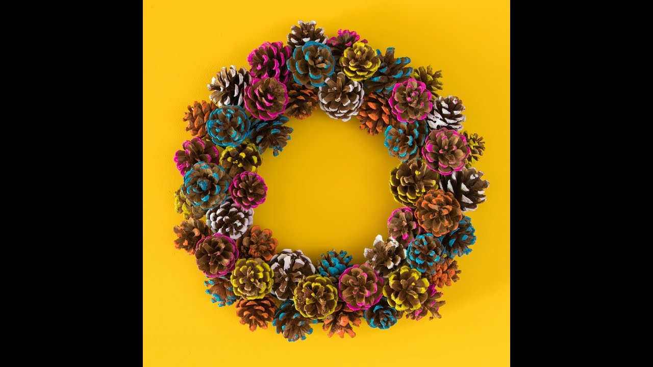 Fall Diy Pinecone Wreath Youtube