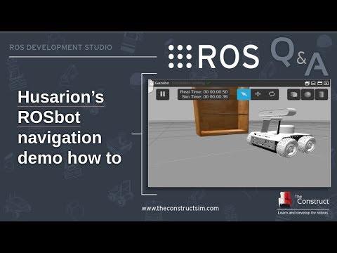 [ROS Q&A] 116 - Launching Husarion ROSbot navigation demo in Gazebo  simulation