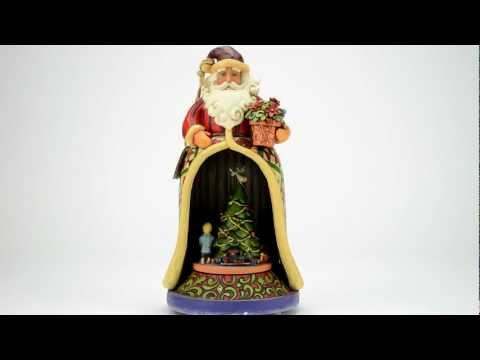 Jim Shore Santa with Lighted Revolving Musical Figurine