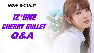 How would izone/iz*one sing cherry bullet 'q&a' (line distribution)
