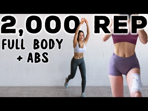 2000 REP Full Body & Abs Workout CHALLENGE for 2 Million Subscribers 🔥Burn Fat, NO JUMPING