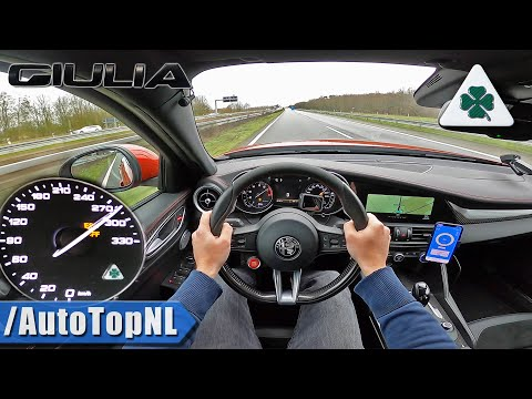 Alfa Romeo Giulia Quadrifoglio 510HP | 285km/h On AUTOBAHN (NO SPEED LIMIT) By AutoTopNL