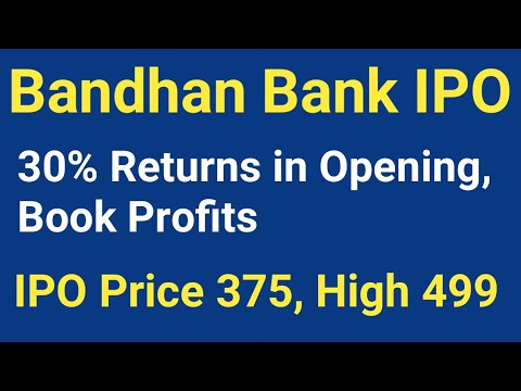 Bandhan Bank IPO - 30% Returns in Opening, Book Profits, Latest News, Best Stock for Long Term