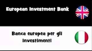 TRANSLATE IN 20 LANGUAGES = European Investment Bank