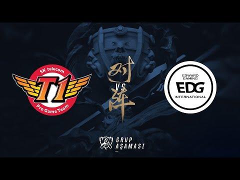 SK telecom T1 ( SKT ) vs Edward Gaming ( EDG ) Maç Özeti | Worlds 2017 Grup Aşaması