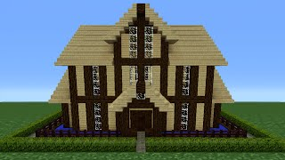 Minecraft Tutorial: How To Make A Wooden House - 12