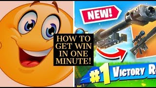 FORTNITE | HOW TO GET VICTORY ROYALE IN ONE MINUTE!