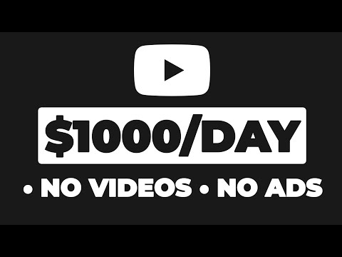 BEST Way To Make $1,000/Day on YouTube Without Making Videos (Make Money Online)