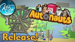 Autonauts Ep 1: AUTOMATED AUTOMATION! - (Production Chain Colony Builder) Release!!! Let's Play