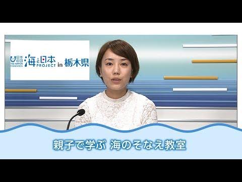 海の季節に事故防止 親子で学ぶ 日本財団 海と日本PROJECT in 栃木県 2018 #01