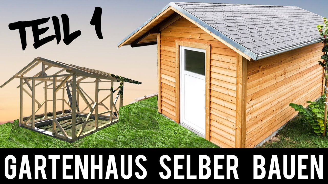 1 4 gartenhaus selber bauen anleitung schritt f r schritt gartenh tte holzh tte youtube. Black Bedroom Furniture Sets. Home Design Ideas