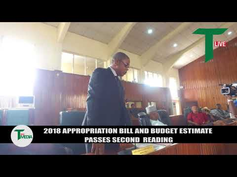 2018 APPROPRIATION BILL AND BUDGET ESTIMATE PASSES SECOND READING.