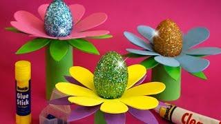Пасхальные Яйца Поделки на Пасху с Детьми Своими Руками Видео Красим яйца к Пасхе Поделки с детьми!